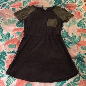 Women's Dark Grey T-Shirt Dress
